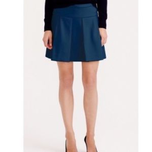 J. Crew Box Pleat Crepe Skirt in Caravan Blue 2